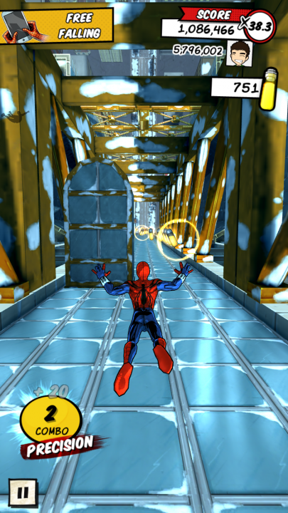 Spider-Man Unlimited freefall