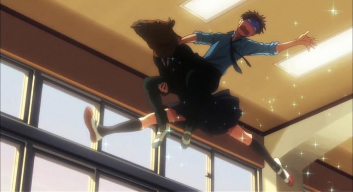 Gekkan Shoujo Nozaki-kun bull ride