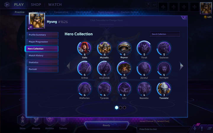Heroes of the Storm hero collection