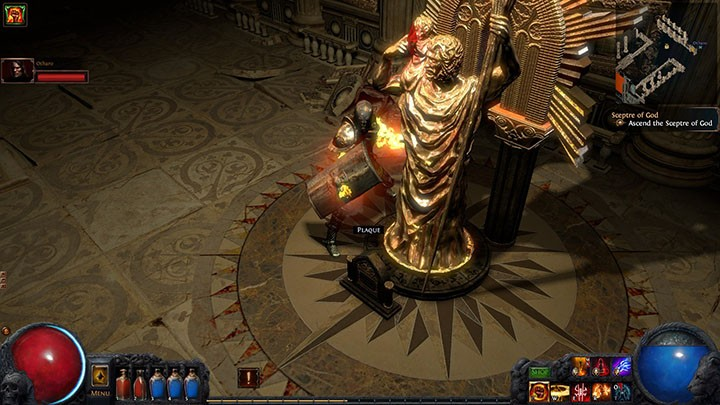 Path of Exile Golden Statue