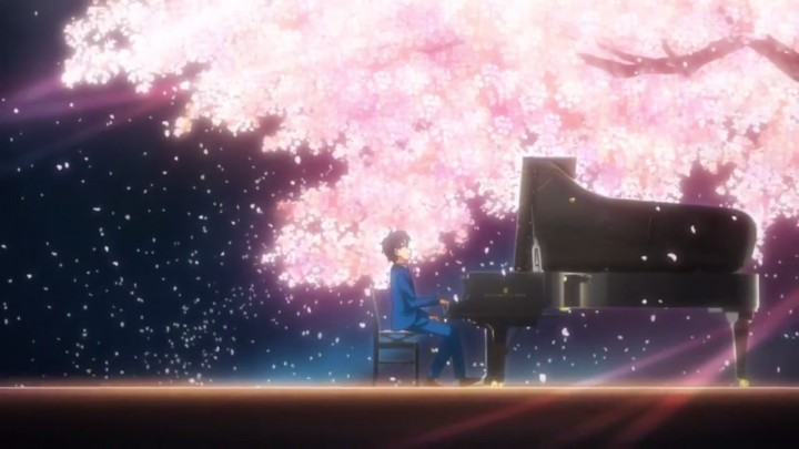 Your Lie In April cherry blossoms