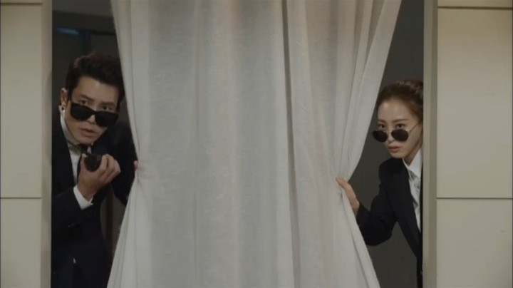Sara and Tae Hee spying