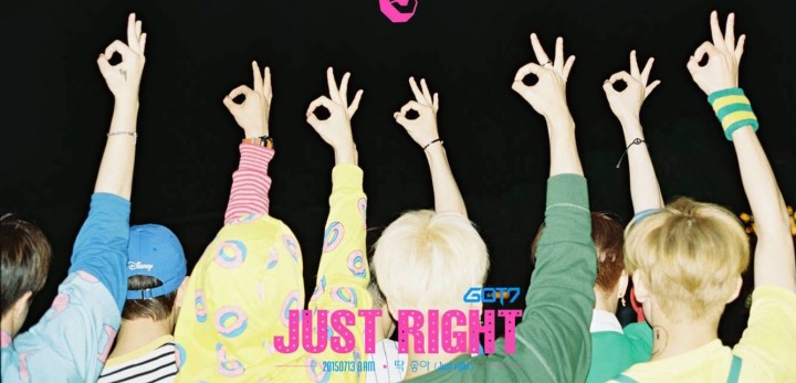 got7 just right album cover