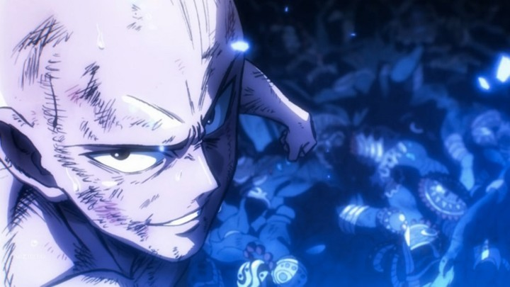 one punch man Saitama-serious
