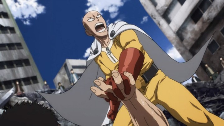 one punch man Saitama-yelling